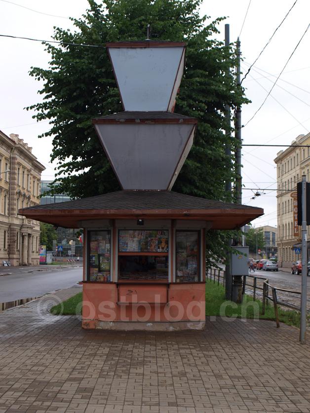 Kiosk als endlose Säule
