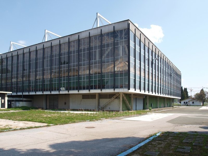 Messe Zagreb, Pavillon der Schwerindustrie Avenija Dubrovnik, Zagreb 1953 - 57, Architekt: Božidar Rašica